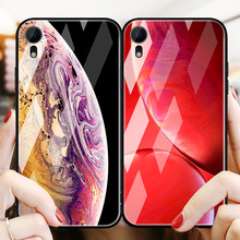 Ascromy For iPhone XS Max Case Luxury Brand Tempered Glass Silicone Bumper Cover For iPhone X S XR Xsmax Phone Coque Accessories(China)