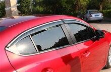 цена на Lapetus Window Visors Awnings Wind Rain Deflector Visor Guard Vent Kit For Mazda 3 AXELA Hatchback Sedan 2014 2015 2016 Exterior