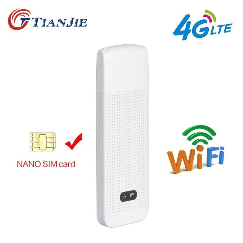 TIANJIE 3G 4G lte uniwersalny Router WiFi przenośny modem wifi 4g Mini bezprzewodowy modem USB modem karty SIM pk alcatel