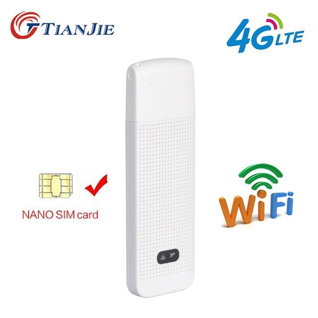 TIANJIE LDW922 3g 4G универсальный маршрутизатор WiFi мобильный Портативный мини Беспроводной USB модем ключ с гнездом нано-sim-карты