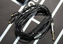 20pcs free shipping With Mic Remote Volume Earphone Cable for shure SE215 SE425 SE535 SE846 upgrade Headphone cable