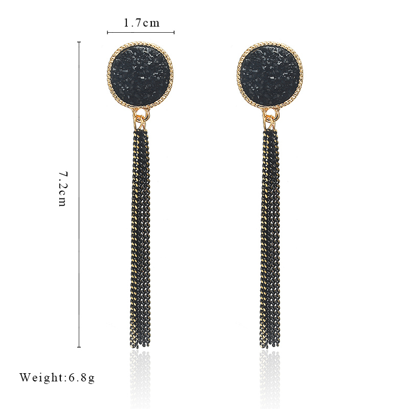 New Fashion Golden Silver Plated Dangle Hanging Black Rhinestone Long Drop Earrings For Women Jewelry brincos