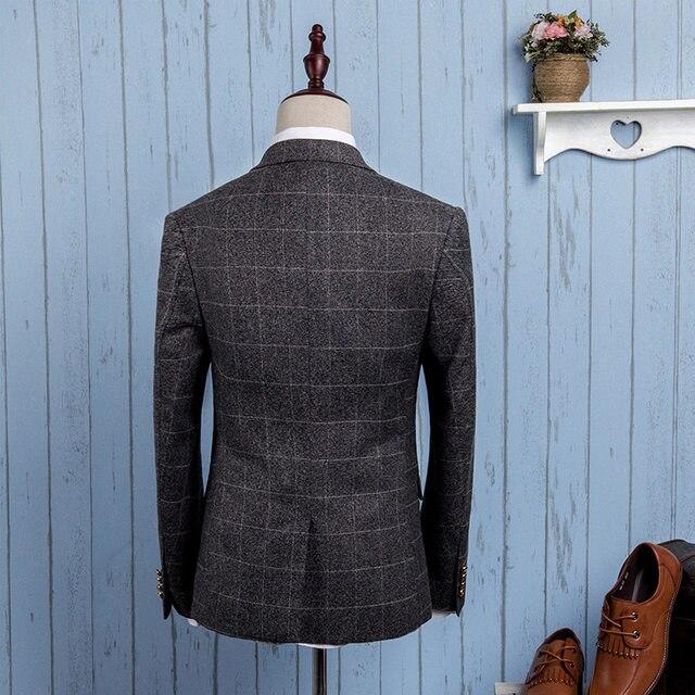 Online Shop AIMENWANT 2018 New men\'s business gird suits gentleman ...