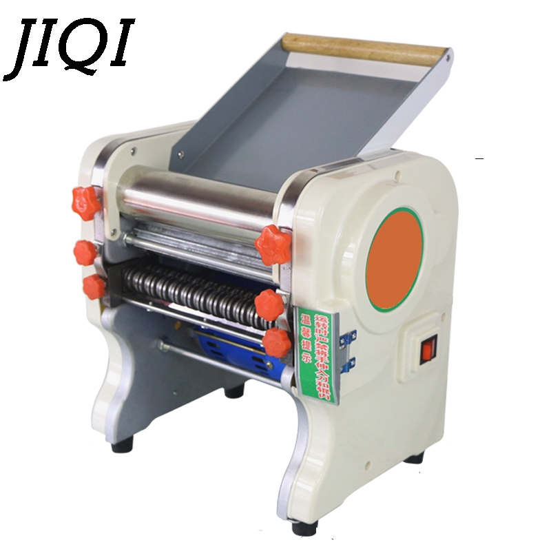 JIQI household electric Noodle pressing machine commercial stainless steel noodles rolling Pasta maker for wonton dumpling EU US 1pc household mini pasta machine manual metal spaetzle makers pressing machine pole head mingled split noodle tools