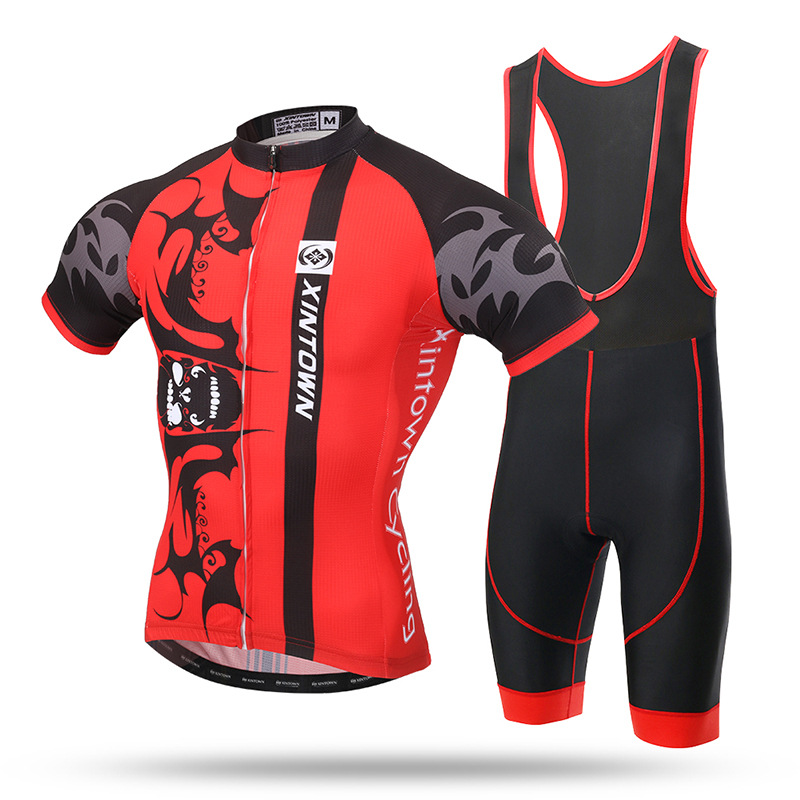 Ropa Ciclismo Special Offer Men Cycling Clothing The Jersey Short Strap Set New Summer Night Bat Suit Male Sleeved paladinsport men s skull patterned short sleeved dacron cycling jersey white red xl page 7