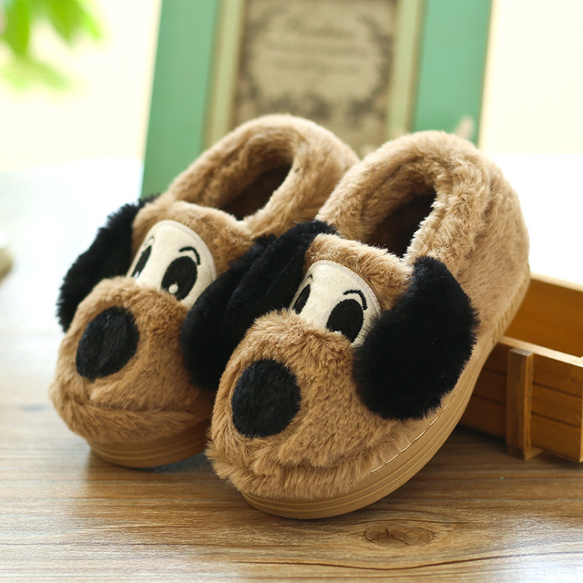 fce18c0770e Cute Cartoon Winter Children Slippers Boys Girls Slippers Thick Warm  Non-Slip Home Slippers Baby