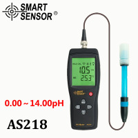 Smart Sensor AS218 Digital PH Tester Meter With Range 0 00 14 00pH Moisture Measuring Instrument