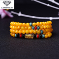 supply of male and female counter multi ring bracelet yellow shell with six words Cheng Qu 108 beads crystal jewelry
