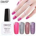 Elite99 Soak Off Bling Неоновый Цвет Геля UV LED База Top Coat Мерцание Nail Art Прекрасный Лак Для Ногтей 10 МЛ