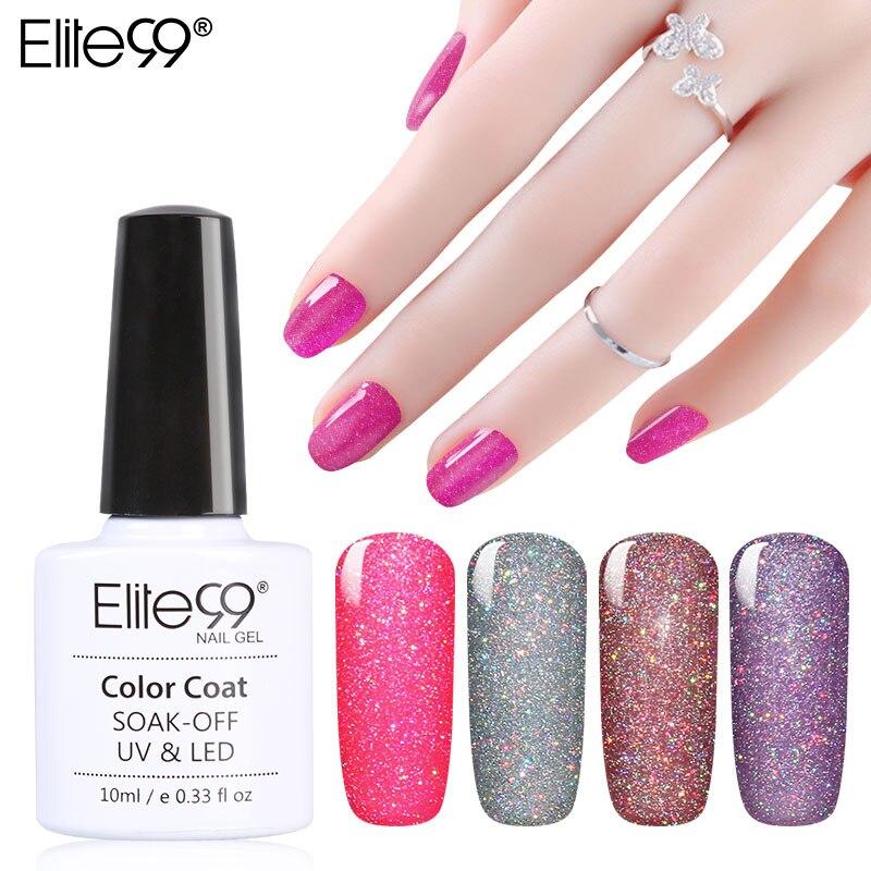 Elite99 Soak Off Bling Neon Color Gel UV LED Base Top Coat