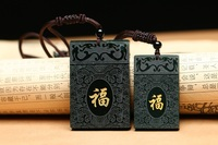 Natural Hetian stone pendant necklace carved blessing blessing amulet pendant men and women lovers jewelry JADES jewelry