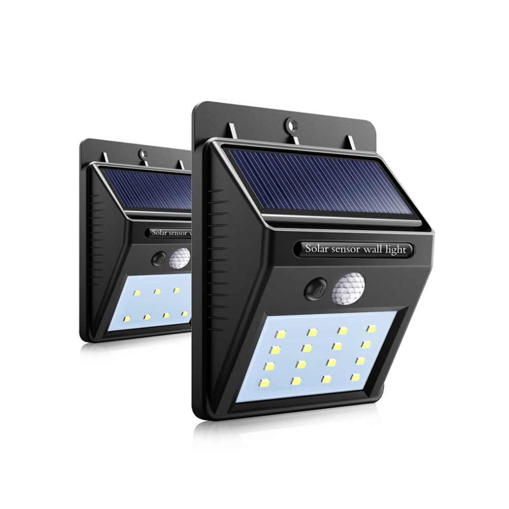 Открытый светодиодный с питанием от солнечной панели садовые огни PIR сенсорные прожекторы движения лампы Путь балконное крыльцо забор домашнее освещение
