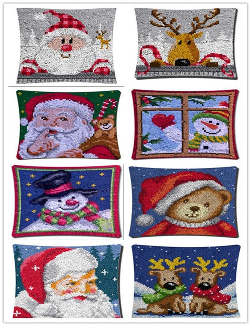Mode Kerst Kussen Klink Haak Kit Kussen Mat Diy Craft Kerst