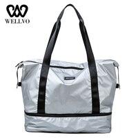 894f72853c0aa Pink Duffle Bag For Women Handbag Travel Hand Luggage Bag Carry On Nylon  Causal Shoulder Bag