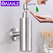 Liquid Soap Dispenser Wall Mounted Stainless Steel Bathroom Shower Lotion Pump Bottle Rotate Kitchen Hotel Foam Soap Dispenser 280lm automatic liquid soap dispenser stainless steel sensor soap dispenser pump shower kitchen soap bottle for bath washroom