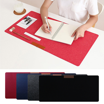2 Size Soft Wearable Mice Office Computer Desk Mat Modern Table Wool Felt Laptop Cushion Large Mouse Pad