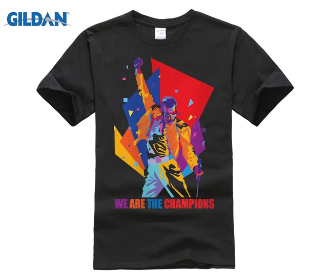 Custom T Shirt ALP GILDAN freddie mercury T-Shirts Men Personalized Custom Tee Summer male  Fitness T shirt