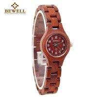 BEWELL Newest Women Wood Watch Quartz Simple Smart Wristwatch Relogio Masculino Erkek Kol Saati Top Quality
