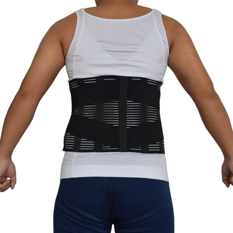 Y015 Women Men Elastic Corset Back Lumbar Brace Support Belt Orthopedic Posture Back Belt Waist Belt Correction Abdominal XXXL