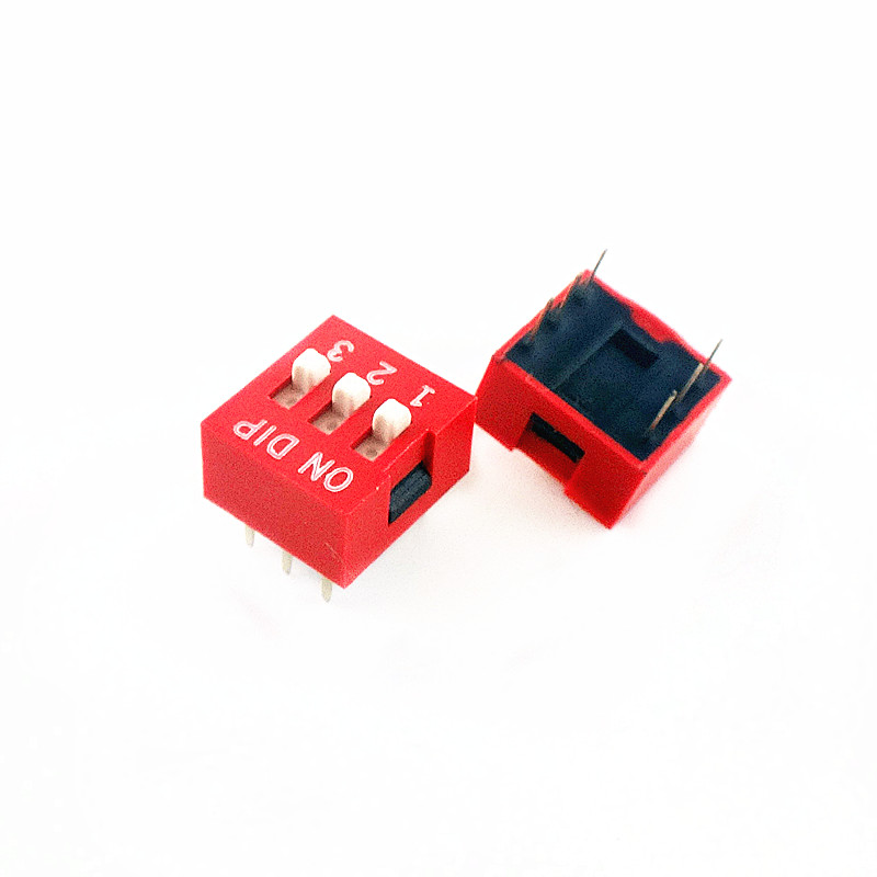 H026 10pcs DIP Switch Slide Type Red 2.54mm Pitch 2 Row DIP Toggle switches 2p 3p 4p 5p 6p 8p 10p Free Shipping