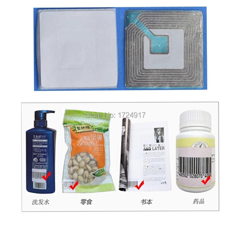 RF 8.2Mhz EAS soft label 4cmX4cm 1000piece,anti theft security label,supermarket anti theft securitry alarm label