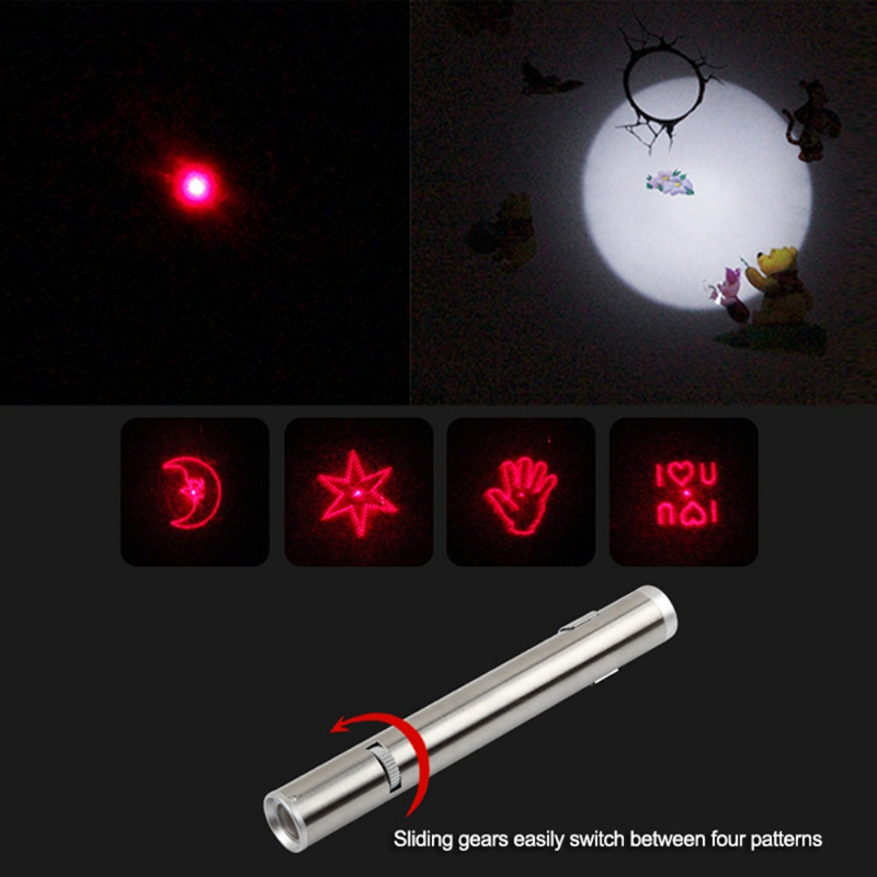 3 in 1 Chaser Cat Toy Best Pet Cat LED Light Pointer Toys Red Light and Flashlight UV Light Interactive LED Light Train Cat Toys