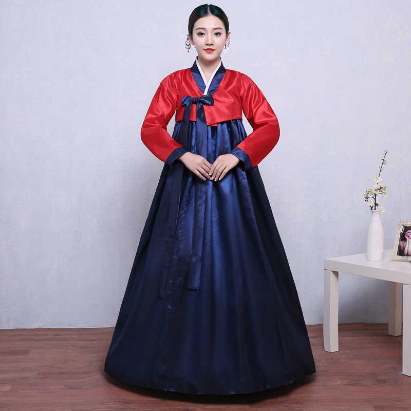 שנה חדשה קוריאני באיכות גבוהה מסורתית Hanbok ריקוד מיעוט אתני ארמון שמלת Hanbok קוריאני נשי תחפושת שלב Cosplay
