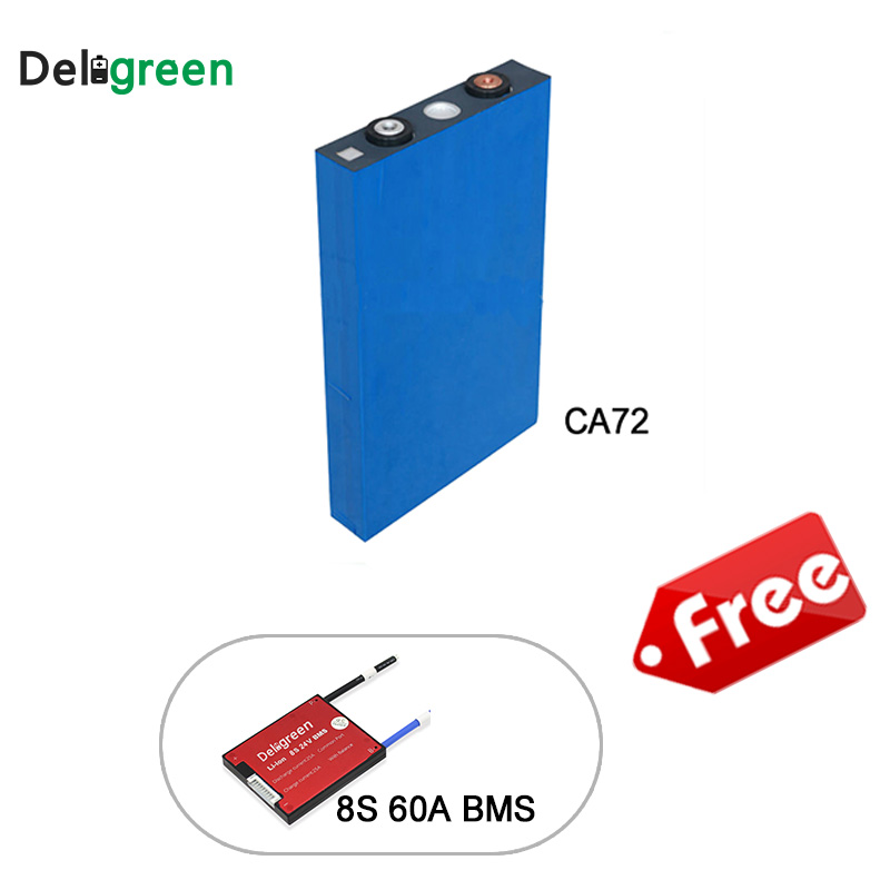 Rechargeable CALB L135F72 Lifepo4 25.6 v 72ah Li ion Batteries Cellules avec 8 s 60A Li ion BMS pour solaire grille off systerm
