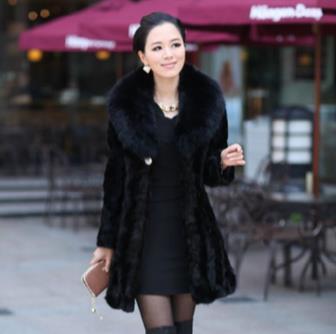 Mink Coat Fur 2018 Winter Women Faux Fur Coat Artificial Fur
