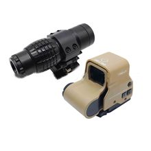 все цены на Tactical red dot sight scope 3x Magnifier Compact Sight with Flip UP Mount Side picatinny Airsoft Rifle gun rail mount Hunting онлайн