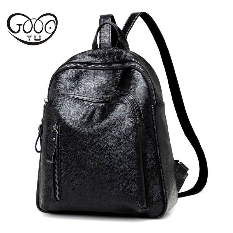 Lychee pattern star with the same style leather backpack women bag simple shoulder bags fashion Rivet
