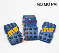 2017 Hot MOMO PAI Manual Transmission MT Skid Aluminum Pedals Universal Racing Fuel Brake Foot Rest