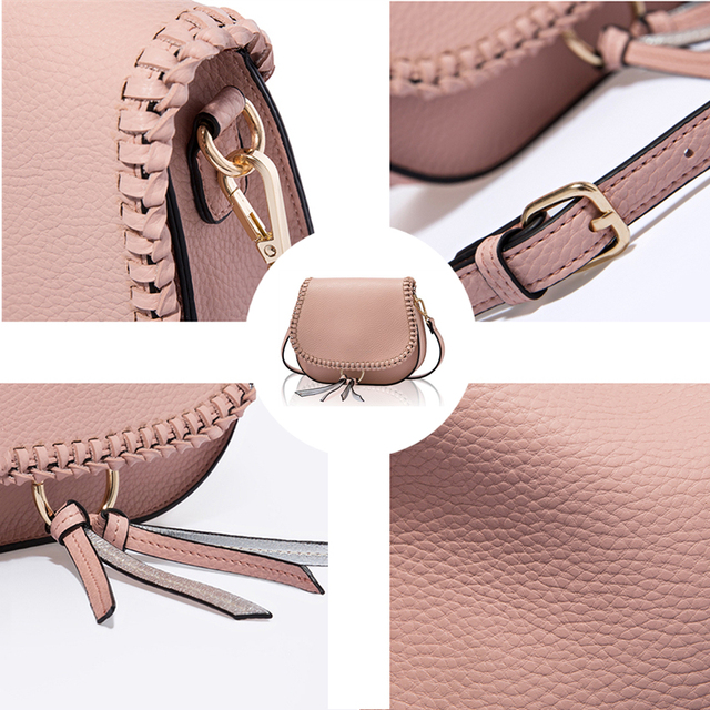 AMELIE GALANTI Women Shoulder Bag with Tassel Small Flap Crossbody Bag with Weave Classical Design