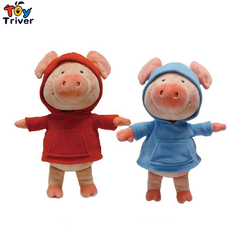30/40cm Kawaii Plush Pig Toy Stuffed Animal Red Blue Wibbly Pigs Doll Baby Kids Children Birthday Gift Home Shop Decor Triver