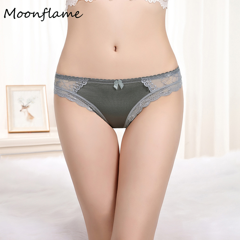 Moonflme 1 pcs/lots 2018 New Ladies Underwear Polyester Sexy Lace   Panties   89273