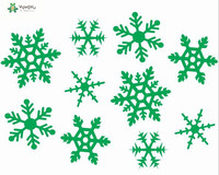 Merry Christmas Wall Decal Window Pattern Snowflake Wall Stickers Vinyl Happy Holiday Interior Removable Home Decor