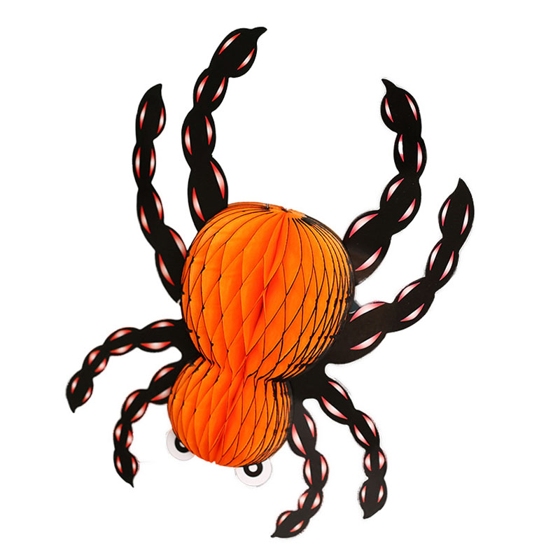halloween supplies props 3d paper lanterns spiders toys halloween decorations folding spiders christmas gift for kids