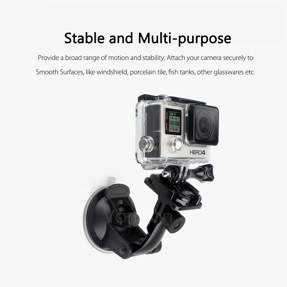 Vamson for Go Pro 8 9 Accessories 7cm Car Mount Windshield Suction Cup for Gopro Hero 9 8 7 6 5 4 for SJCAM for Yi 4K VP520 4