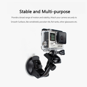 Image 4 - Vamson for Go Pro 8 9 Accessories 7cm Car Mount Windshield Suction Cup for Gopro Hero 9 8 7 6 5 4 for SJCAM for Yi 4K VP520