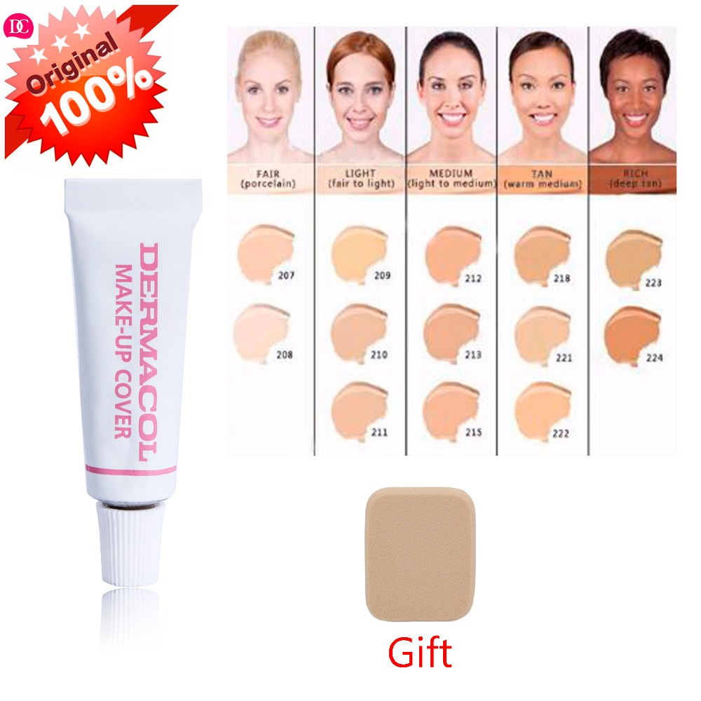 dermacol 100% original waterproof Makeup Cover 4g Primer Concealer Base Professional high quality Dermacol Make up Foundation