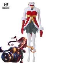 ROLECOS Brand New Arrival Game LOL Cosplay Costumes  Christmas Rascal Jinx Cosplay Costumes Full Set Christmas Costume