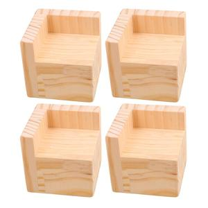 Image 1 - 4 stuks 7.5x7.5x7.3 cm L Vormige Semi Gesloten Lift Houten Bed Bureau Riser Lifter tafel Meubels Voeten Lift Opslag