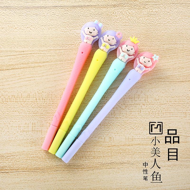48 pçs gel canetas dos desenhos animados