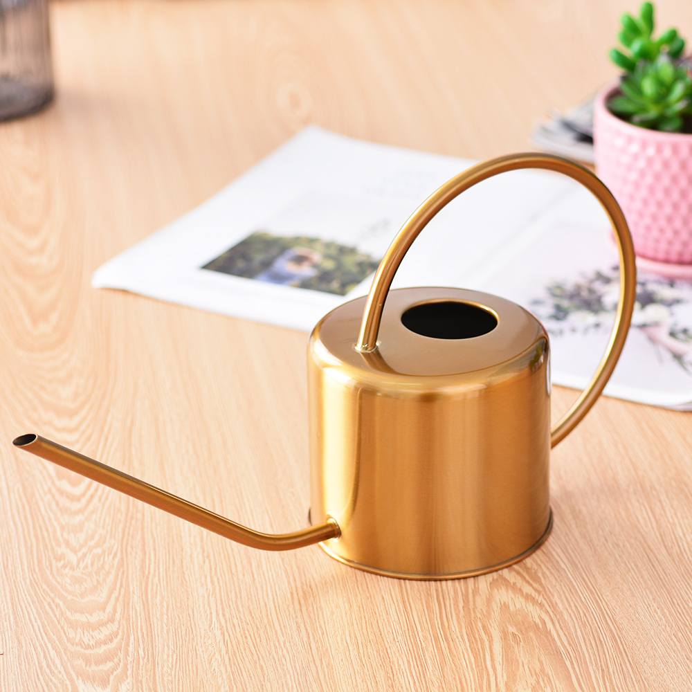 Water-Bottle Handle Flower Stainless-Steel Garden Golden Small for 1300ml Perfect Easy-To-Use