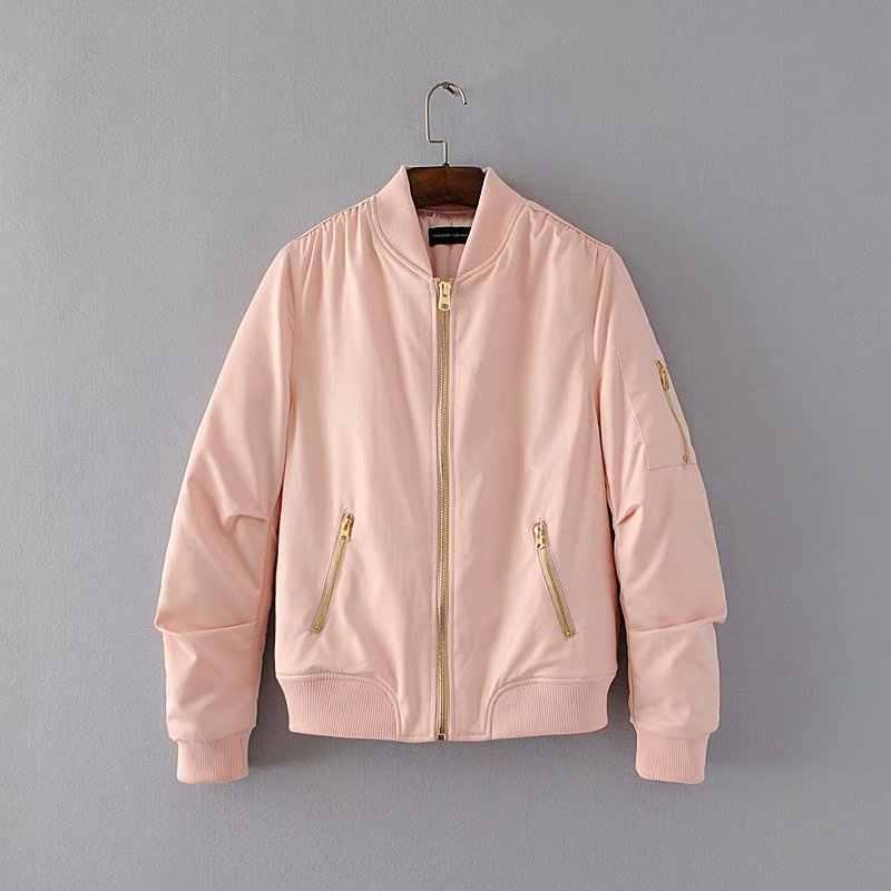 Bella philosophy, осенне-зимние куртки пилота с длинными рукавами, женское базовое универсальное пальто, женская куртка-бомбер, Женская летная куртка