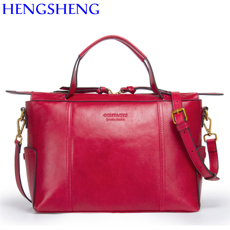 Здесь можно купить  Hengsheng 100% genuine leather women shoulder bag for fashion girl messenger bag women bag female leather handbags  Камера и Сумки
