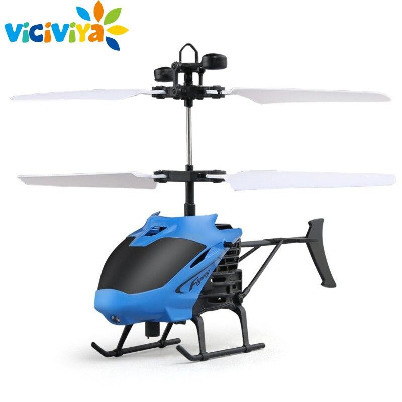 D715 Vol Mini RC Infrarouge Induction Hélicoptère Avions USB Charge LED Clignotant Lumière RC Télécommande Helikopter Enfants Jouets
