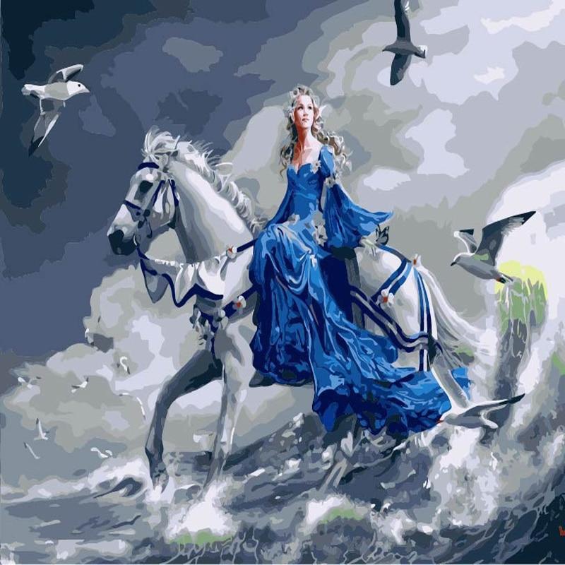 40 50 Cm Princess Horse Riding Cuadros Decoracion Wall Art