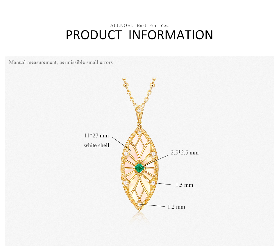 ALLNOEL Sweater Chain Long Necklaces Pendants For Women Handmade Costume Accessories Natural Emerald Stone Leaf Pendant Necklace (3)