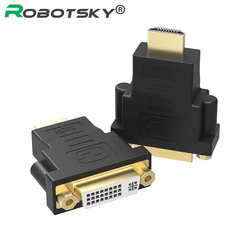 Позолоченный HDMI мужчина к DVI-I 24 + 5 Женский переходник conveter 1080 P для HDTV Тетрадь PS3 stb ...